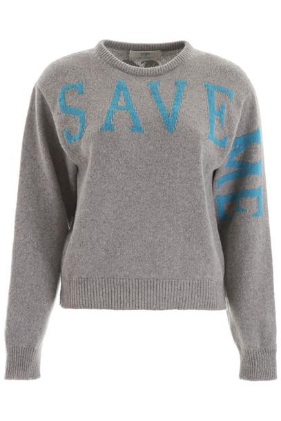 Alberta Ferretti Save Me Pullover in blue / grey