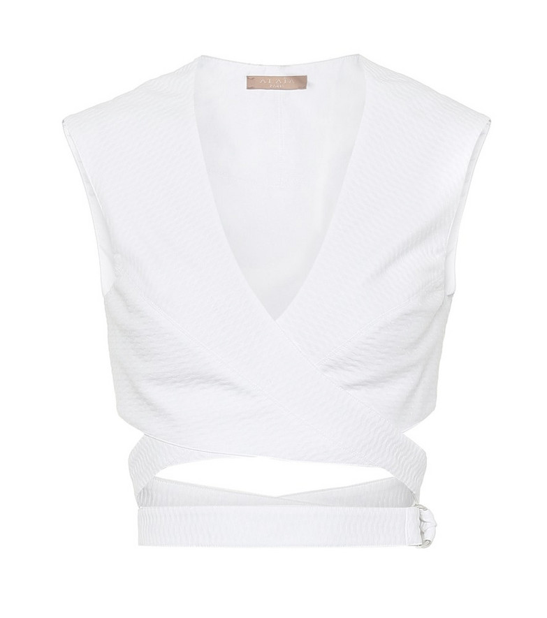 Alaïa Cotton top in white
