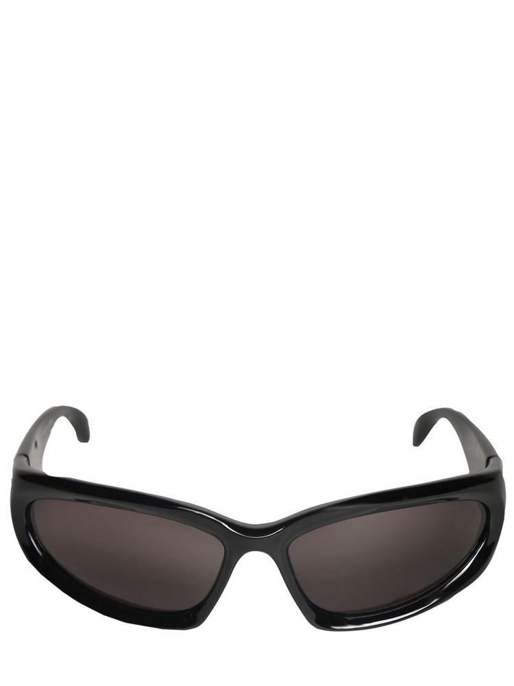 BALENCIAGA Swift Oval 0157s Sunglasses in black / grey
