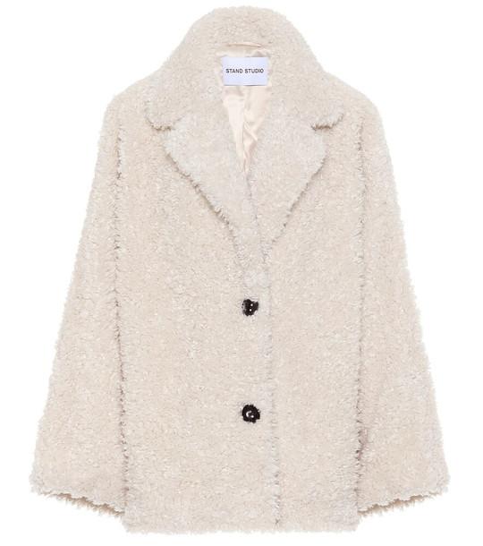 Stand Studio Merilyn faux-shearling jacket in white