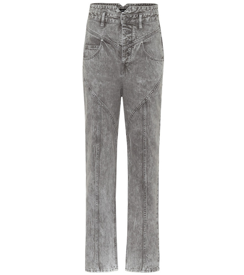 Isabel Marant Exclusive to Mytheresa – Anastasia high-rise straight jeans in grey