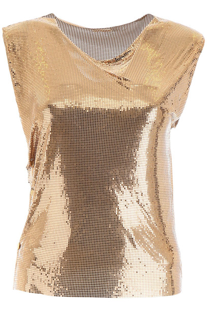 Paco Rabanne Chainmail Top in gold