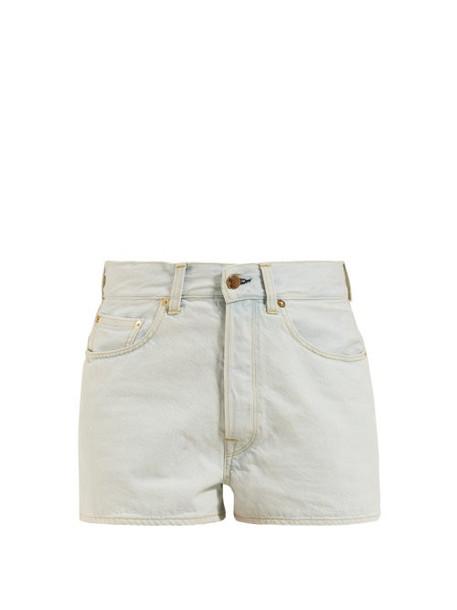 Golden Goose - Judy High Rise Denim Shorts - Womens - Light Denim