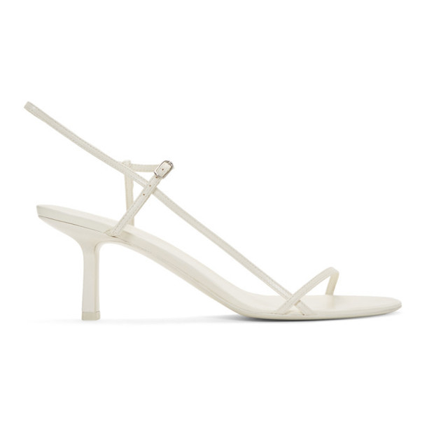 The Row White Bare Heel Sandals