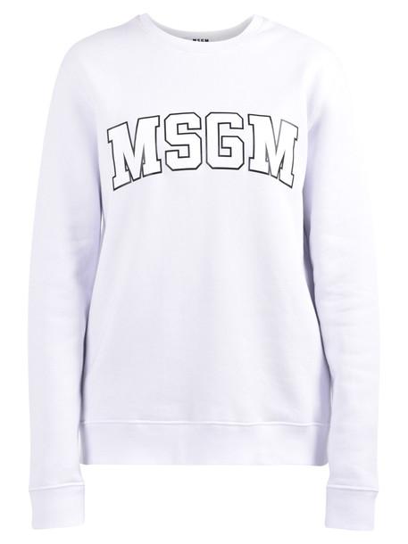 MSGM Branded Sweatshirt in white