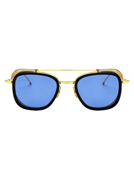 Thom Browne Sunglasses in navy / gold / yellow