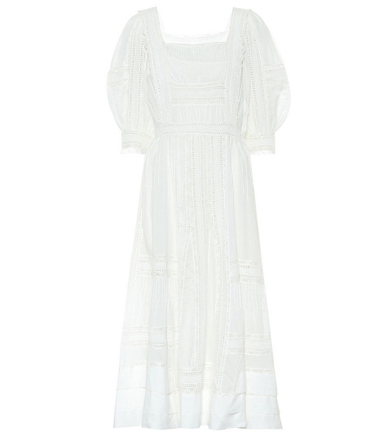 Polo Ralph Lauren Exclusive to Mytheresa – Lace-trimmed midi dress in white