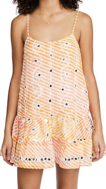 Juliet Dunn Cami Dress in orange / yellow