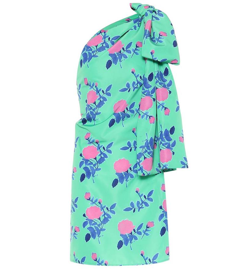 Bernadette Josselin floral satin dress in green