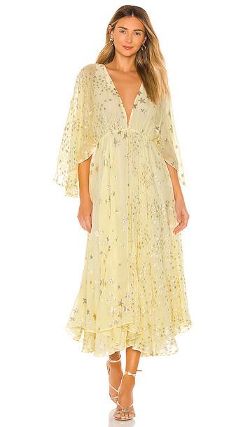 LoveShackFancy Solana Dress in Yellow