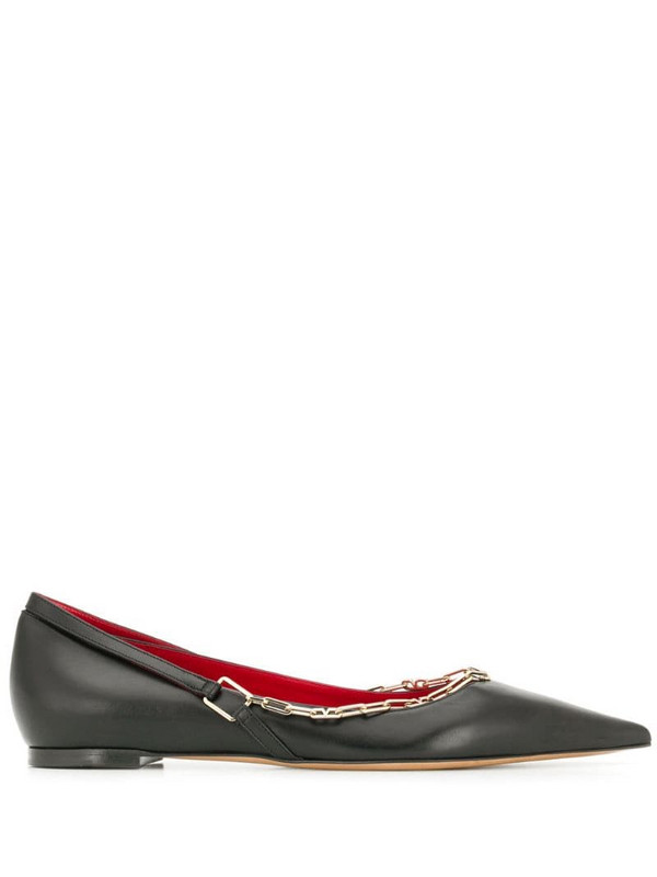 Valentino Garavani chain detail ballerina shoes in black