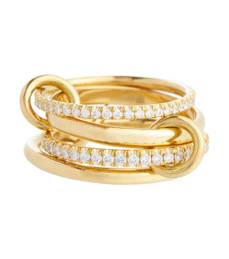 Spinelli Kilcollin Polaris 18kt gold linked rings with diamonds