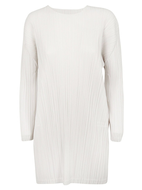 Pleats Please Issey Miyake Pleated Dress in gray