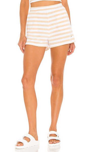 THE UPSIDE Makai Christina Short in Tan in white
