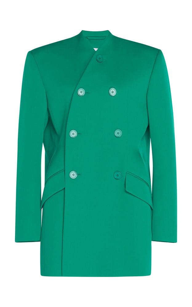 Balenciaga Dynasty Stretch-Twill Double-Breasted Blazer in green