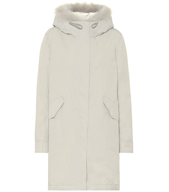 Yves Salomon Bachette fur-trimmed down parka in grey