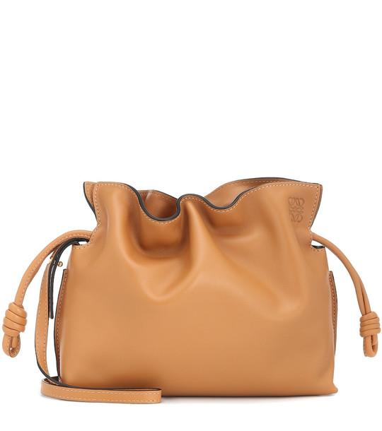 Loewe Flamenco Mini leather clutch in brown