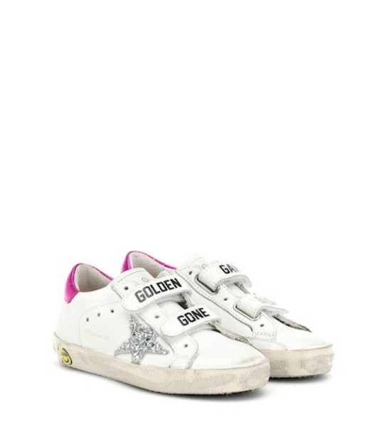 Golden Goose Deluxe Brand Kids Old School leather sneakers in white