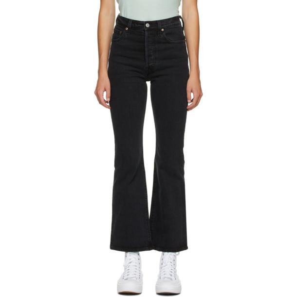 Levis Black Ribcage Bootcut Jeans