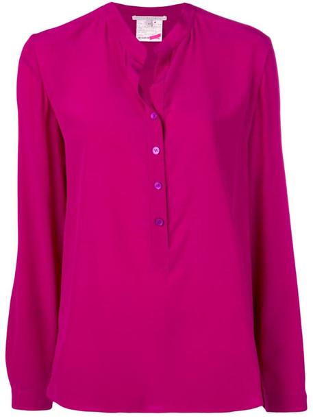 Stella McCartney block colour blouse in purple