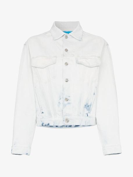 Jordache cropped acid wash denim jacket