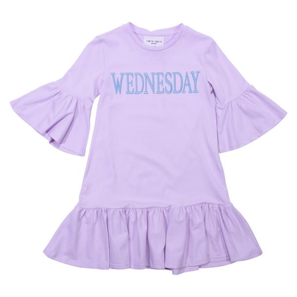 Alberta Ferretti Wednesday Pink Cotton Dress