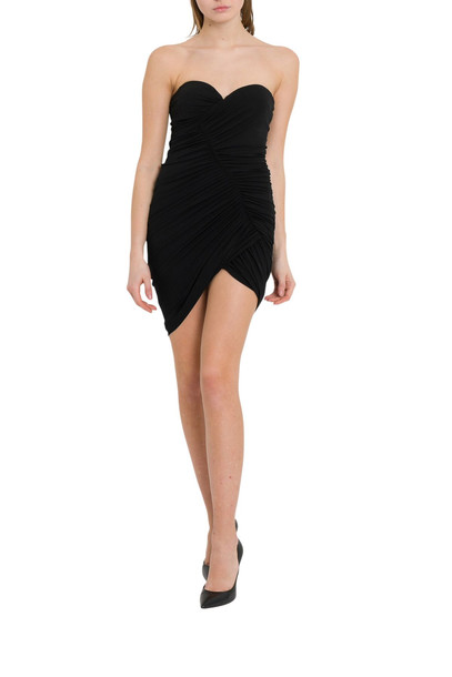 Alexandre Vauthier Asymmetric Dress With Draping And Slit in nero