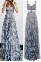 dress,lace,gown,prom dress,blue