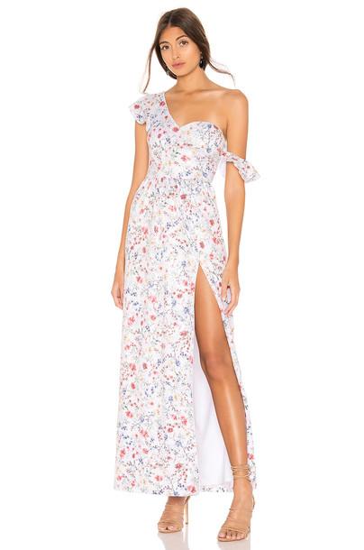 MAJORELLE Regan Maxi Dress in white