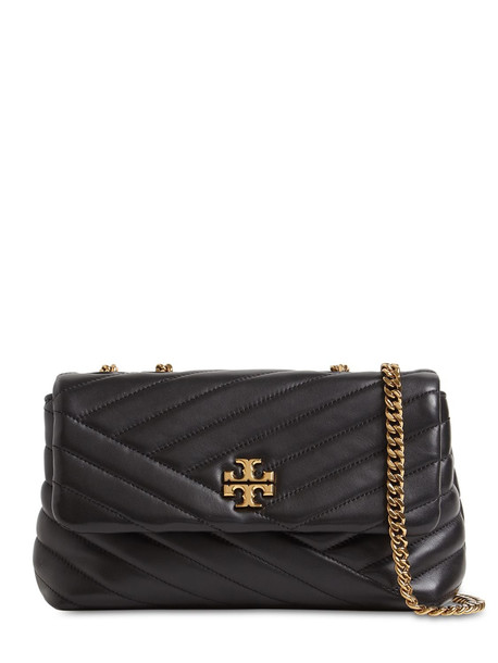 TORY BURCH Kira Small Chevron Quilted Leather Bag in black