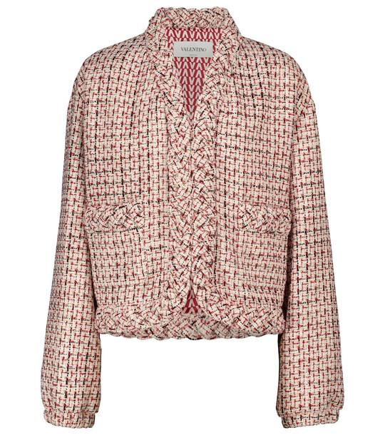 Valentino Metallic wool-blend tweed jacket