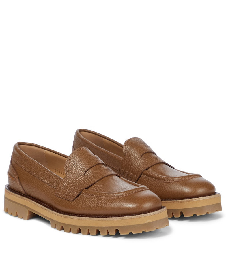 Dries Van Noten Leather loafers in black