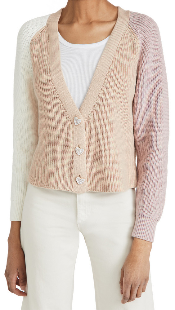 525 Cotton Contrast Cardigan in multi
