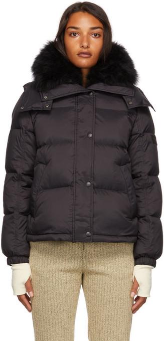Yves Salomon - Army Down Vaporous Lambswool Jacket in black