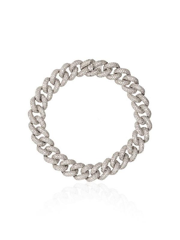 SHAY 18kt gold Essential diamond link bracelet in silver