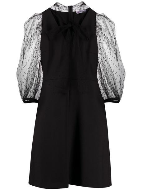 RedValentino puff-sleeve mini dress in black