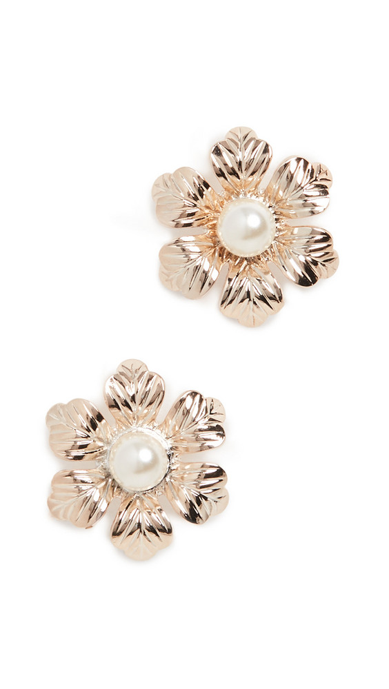 Anton Heunis Post Flower Earrings in cream