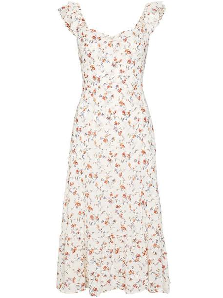 Reformation Bondi floral-print midi dress in neutrals