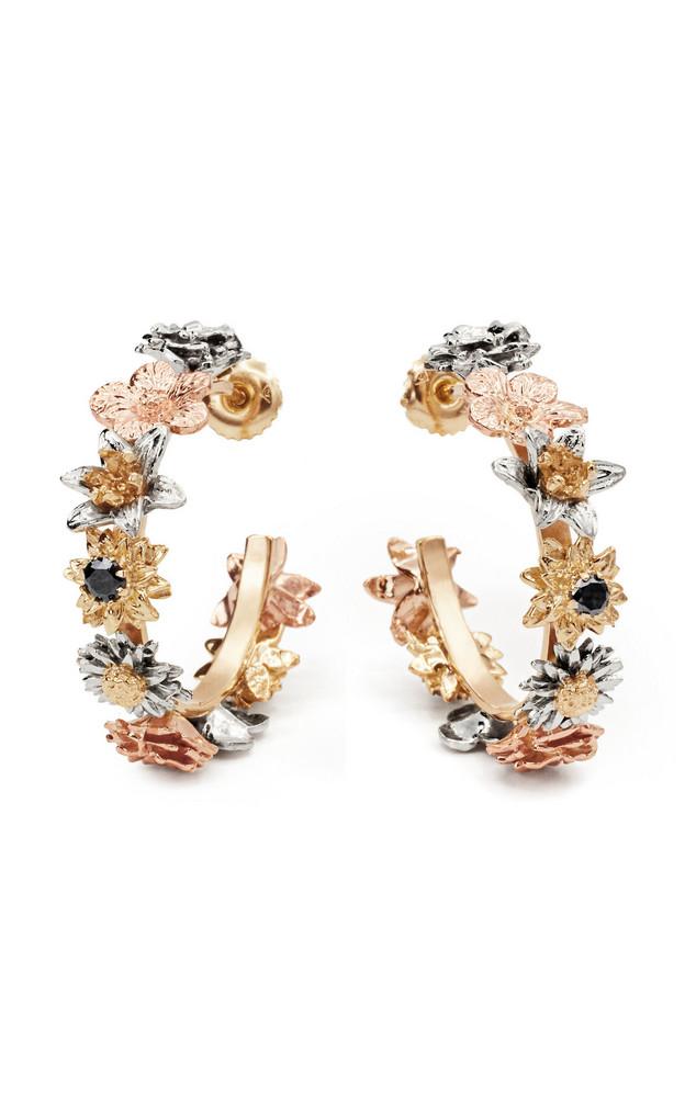 Bernard James Flora 14K Gold Diamond Hoop Earrings in multi