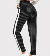 pants,girly,girl,girly wishlist,black,black and white,white,stripes,striped pants