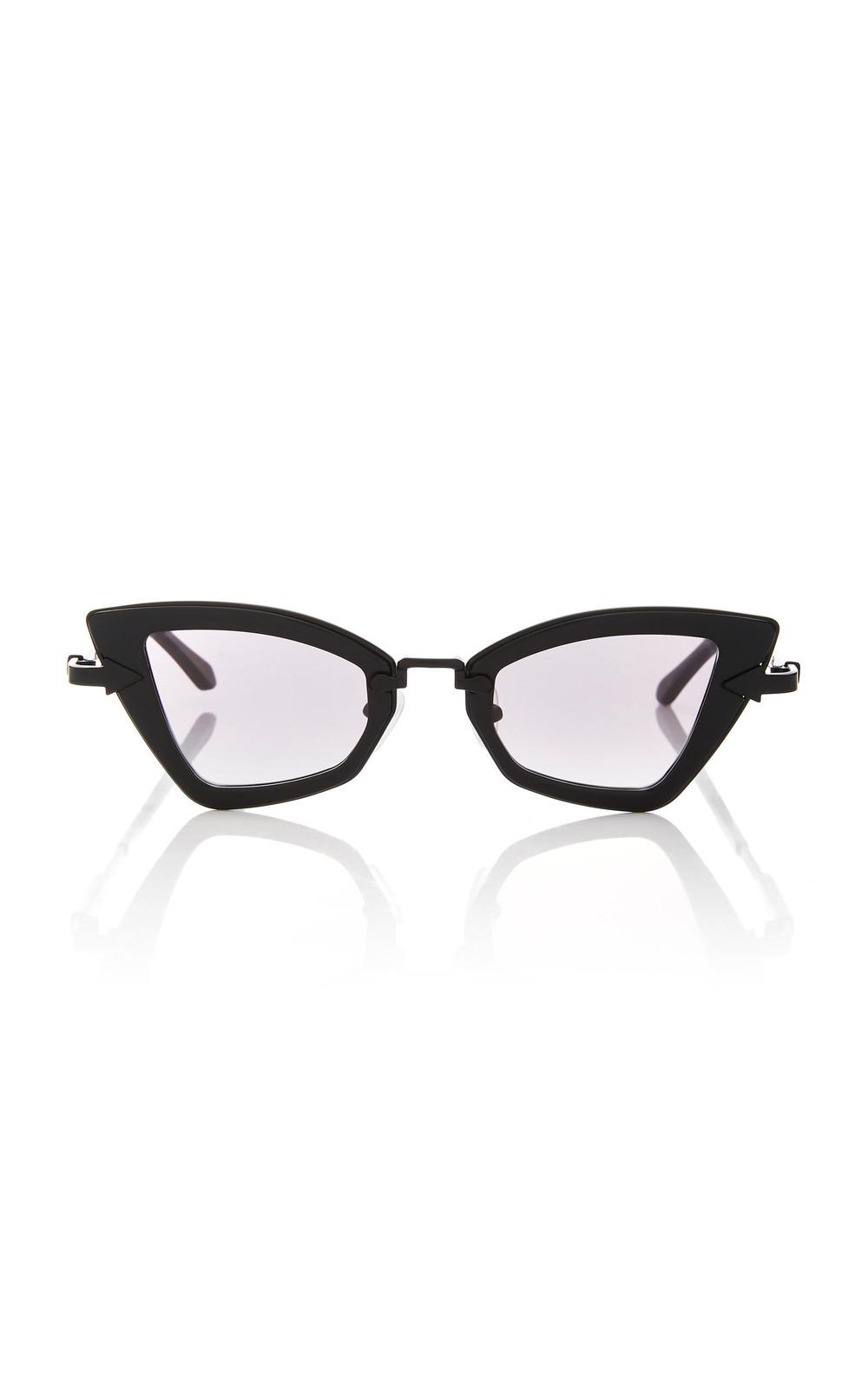 Karen Walker Bad Apple Square-Frame Acetate Sunglasses in black