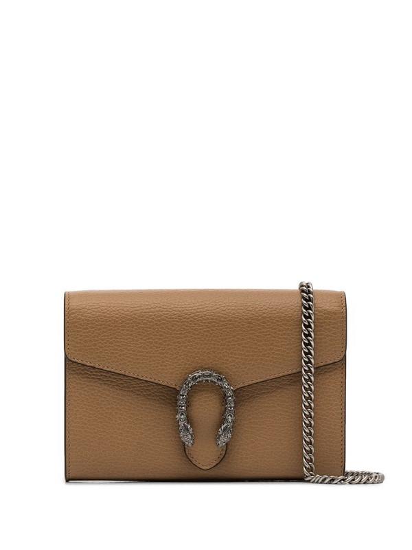 Gucci Brown Dionysus mini leather chain bag