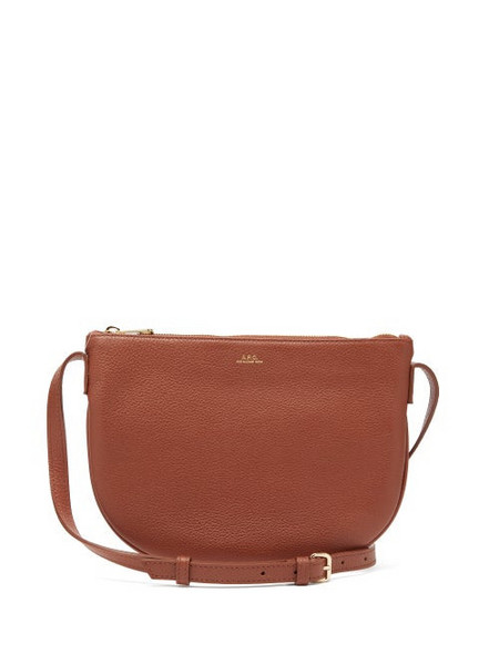 A.P.C. A.p.c. - Maelys Grained Leather Cross Body Bag - Womens - Tan