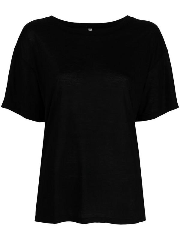 Baserange scoop-neck T-shirt in black