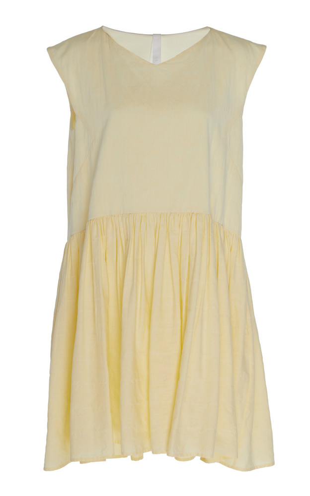 Merlette Mercadal Peplum Mini Dress in yellow
