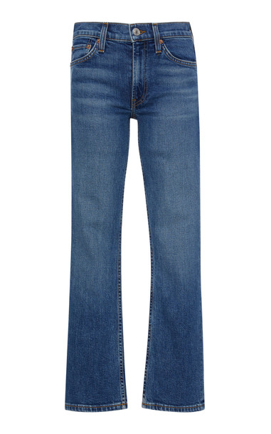 Re/done Cropped Mid-Rise Flared Jeans Size: 28