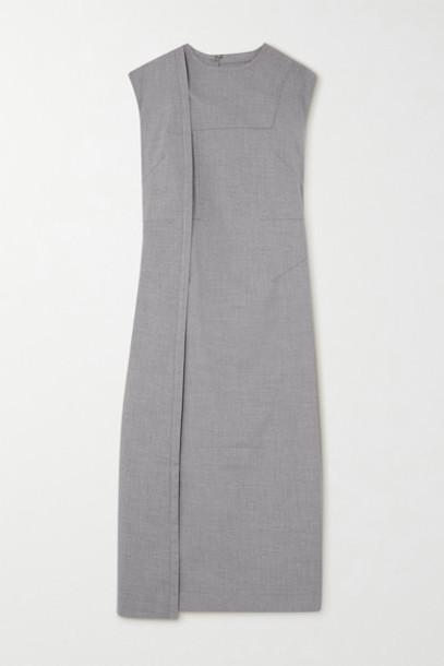 Situationist - Paneled Wool-blend Midi Dress - Beige