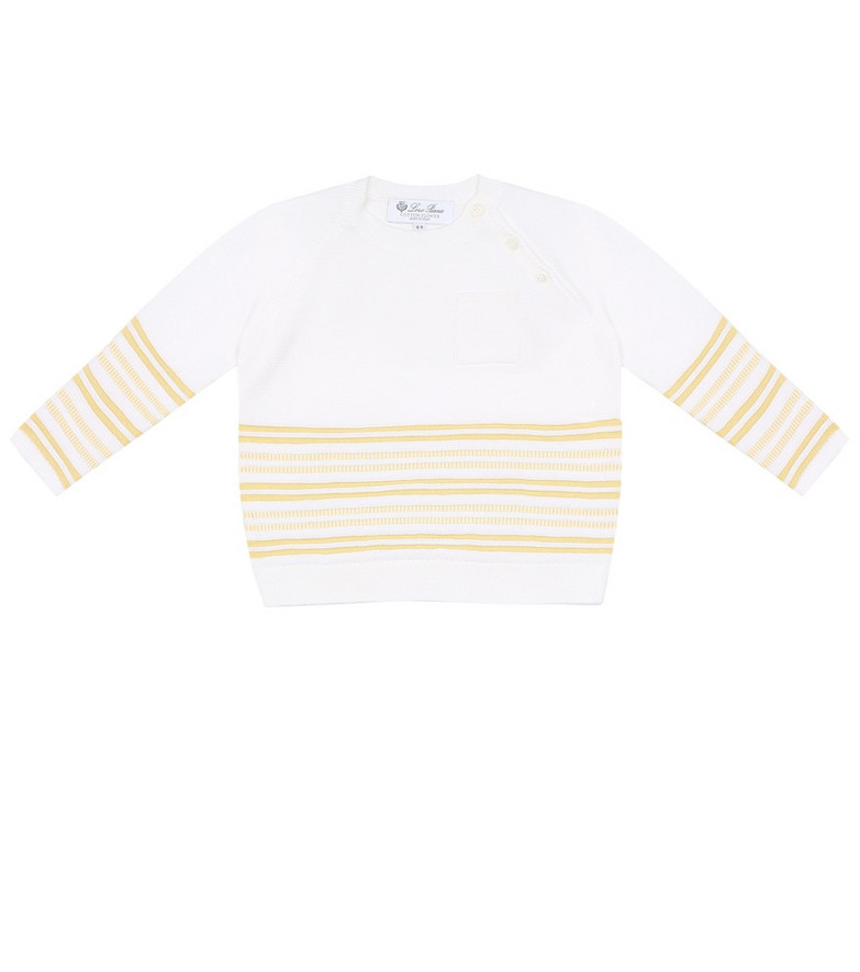 Loro Piana Kids Baby striped cotton sweater in yellow