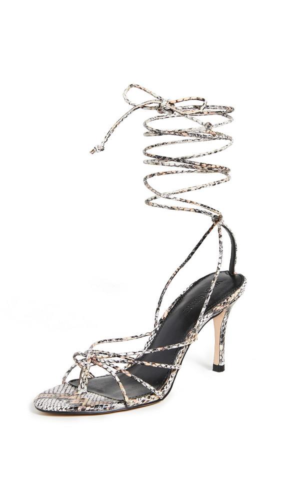 Villa Rouge Aries Sandals in black / tan