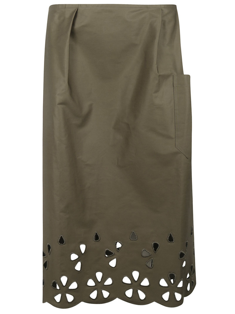 Sofie D'hoore Cut-out Detail Skirt in green